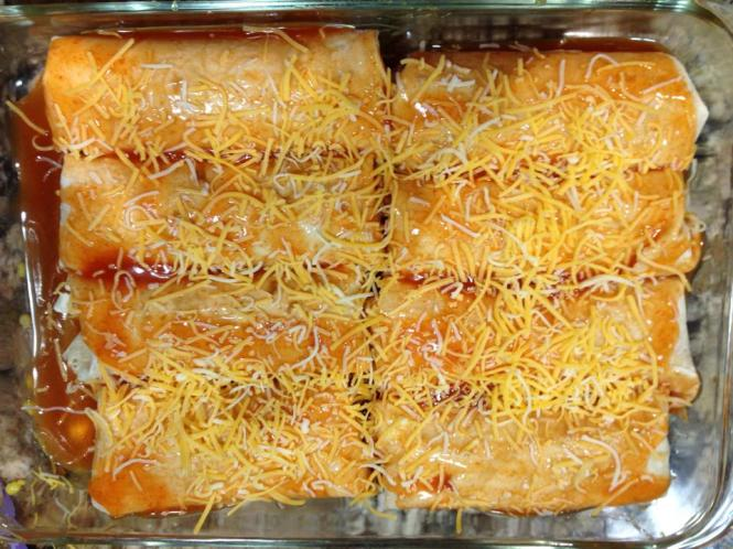 Chicken corn enchiladas