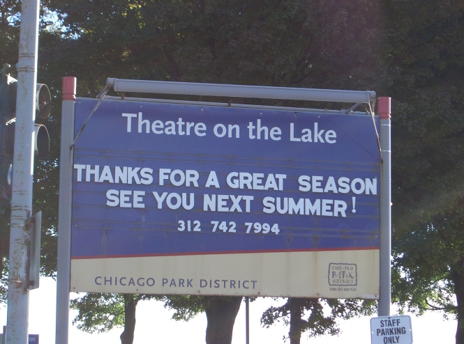 Theatre On The Lake Sign
