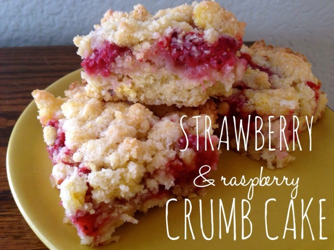 Strawberry and Raspberry Crumb Cake