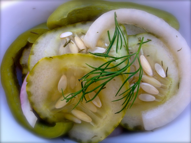 Fresh, Crisp Pickled Cucumbers
