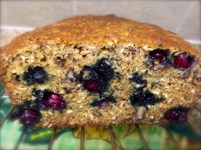 Blueberry Banana Oatmeal Bread