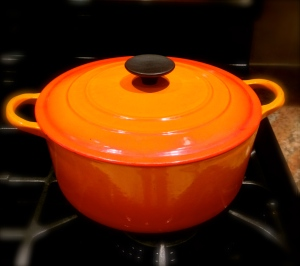 What I use to bake the bread - a LeCreuset 6 quart dutch oven...