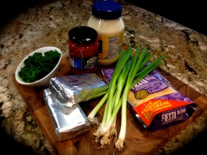 Creamy Spinach and Red Pepper Dip Ingredients