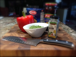 Pesto Orzo Roasted Red Pepper Ingredients