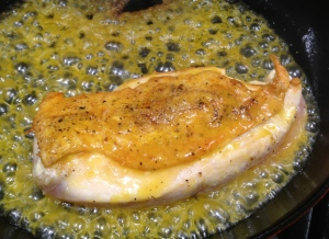 Drizzle the chicken with the orange juice and honey mixture and put into the oven