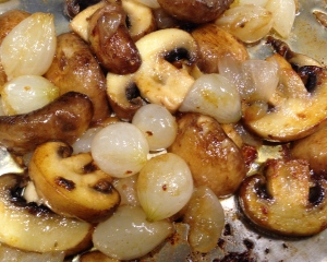 Cook Mushrooms Until Browned and Onions are Slightly Caramelized