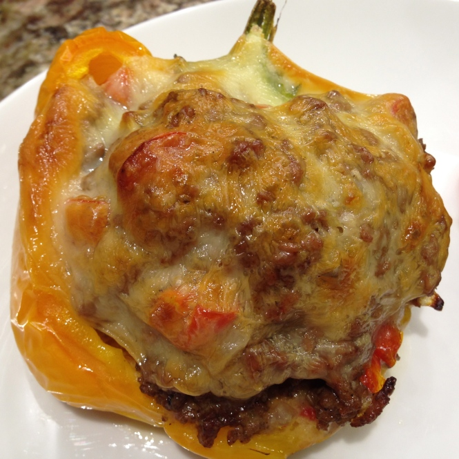 Easy Cheesy Stuffed Pepper