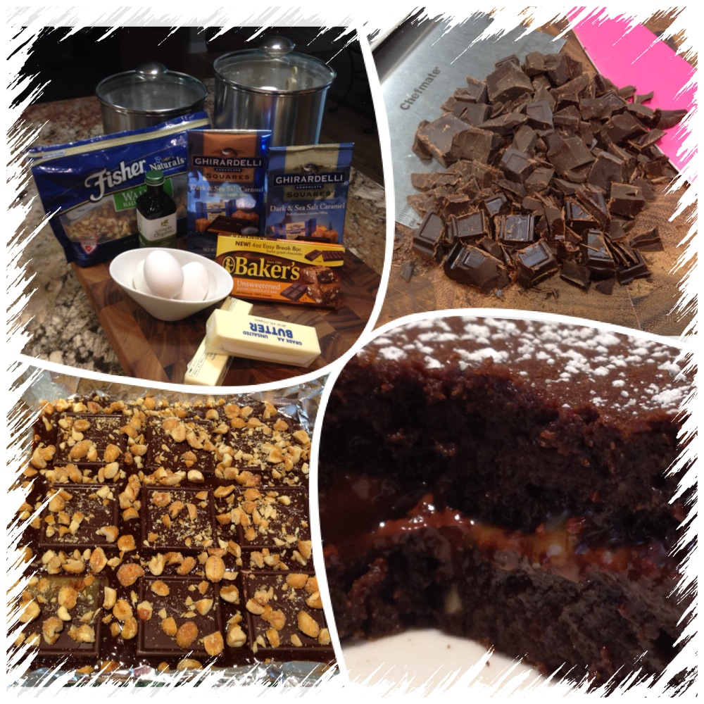 Salted Caramel Brownies... (4/5)