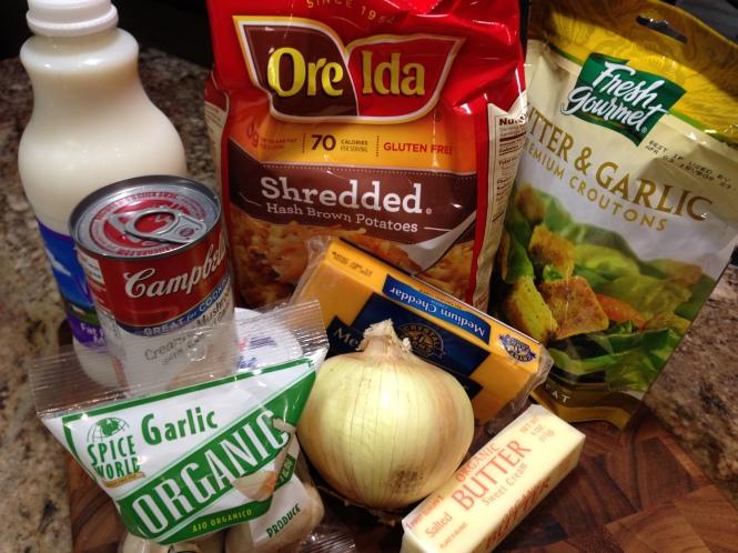 Hash Brown Casserole Ingredients...