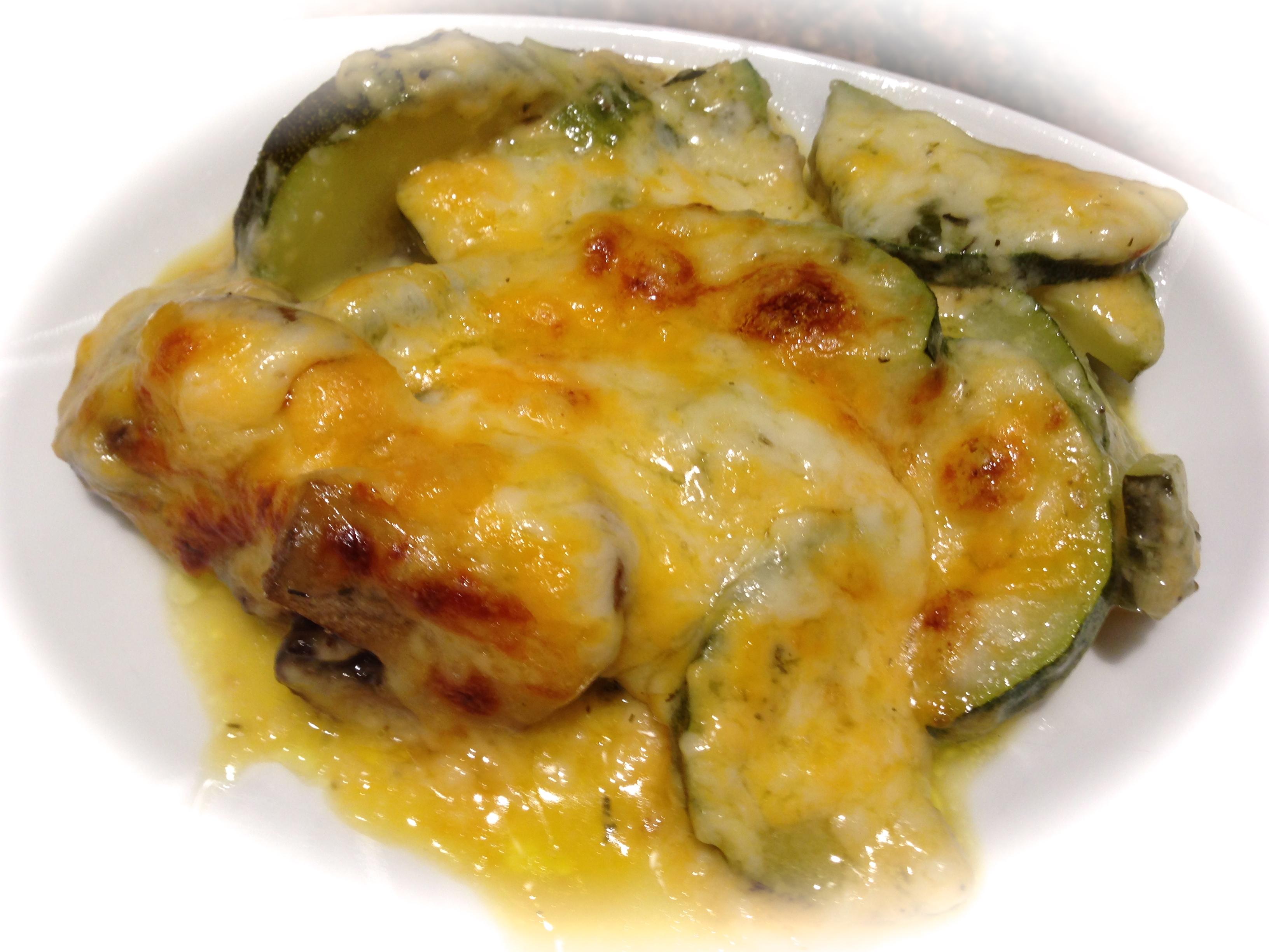 Cheesy Zucchini Mushroom Bake