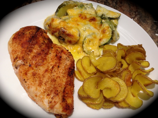Serving Suggestion: With Grilled Chicken Breast and Oven Baked Potato Chips