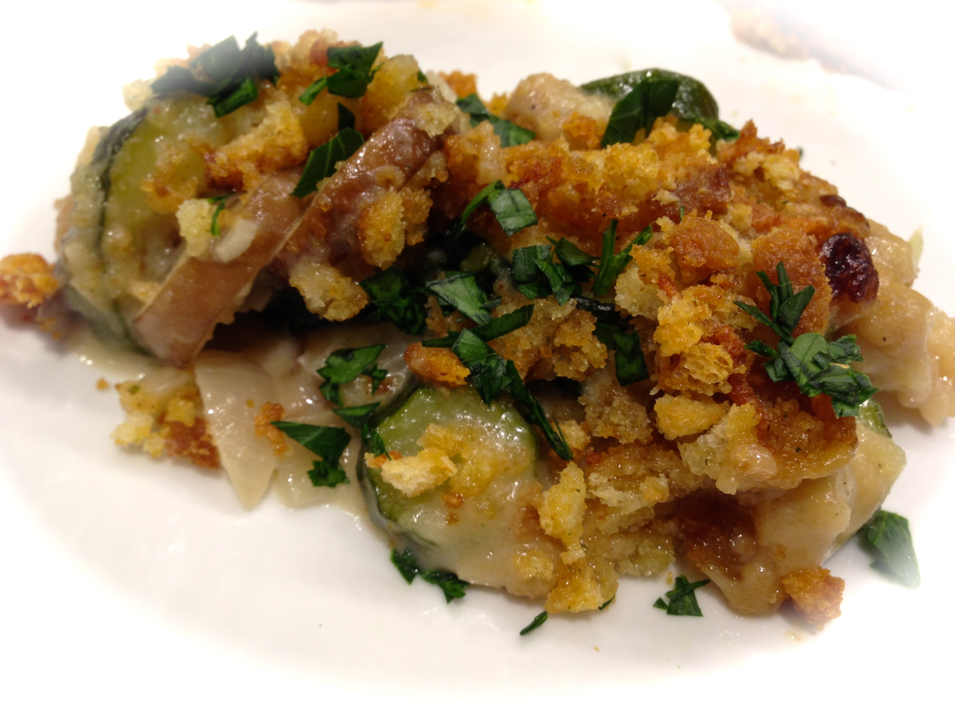Serving Suggestion: garnish with flat leaf parsley...