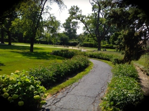 The Motherhouse grounds...