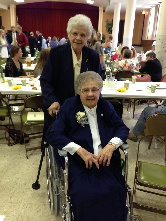 Happy 75th Anniversary, Auntie! (in the wheelchair)