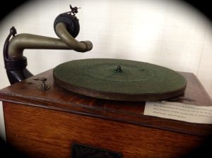The phonograph purchased to teach the Sisters English...