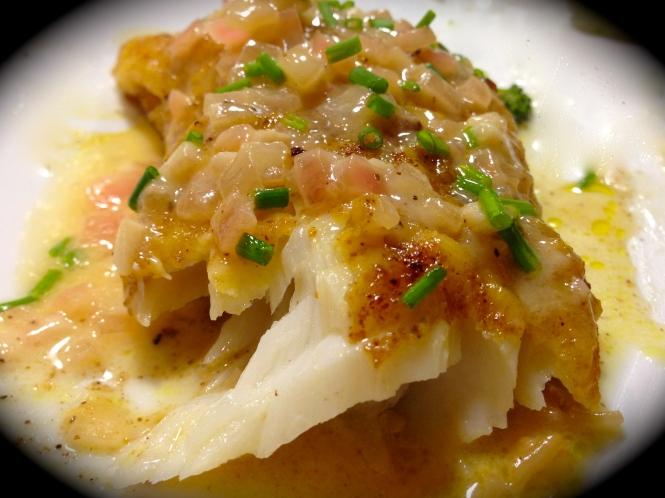 Pan Fried Cod With Lemon Butter Sauce...