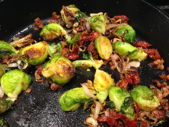 Brussels Sprouts With Shallots, Pancetta and Sun Dried Tomatoes...