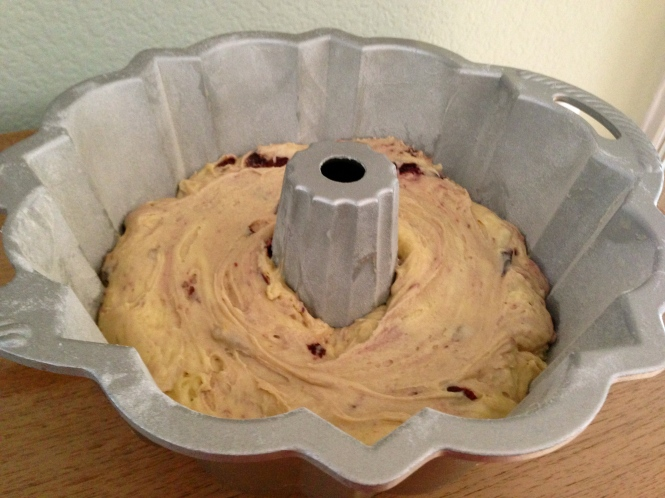 Distribute The Batter Evenly In The Cake Pan...