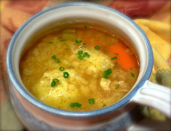 Mom's chicken soup with dumplings