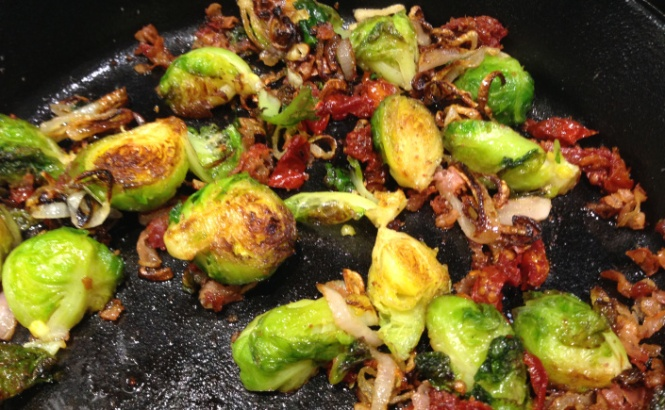 Brussels Sprouts With Pancetta and Sundried Tomatoes