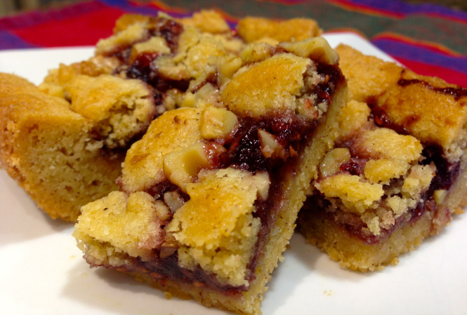 Raspberry Walnut Bars