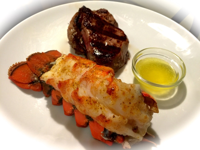 Lobster Tail and Filet Mignon