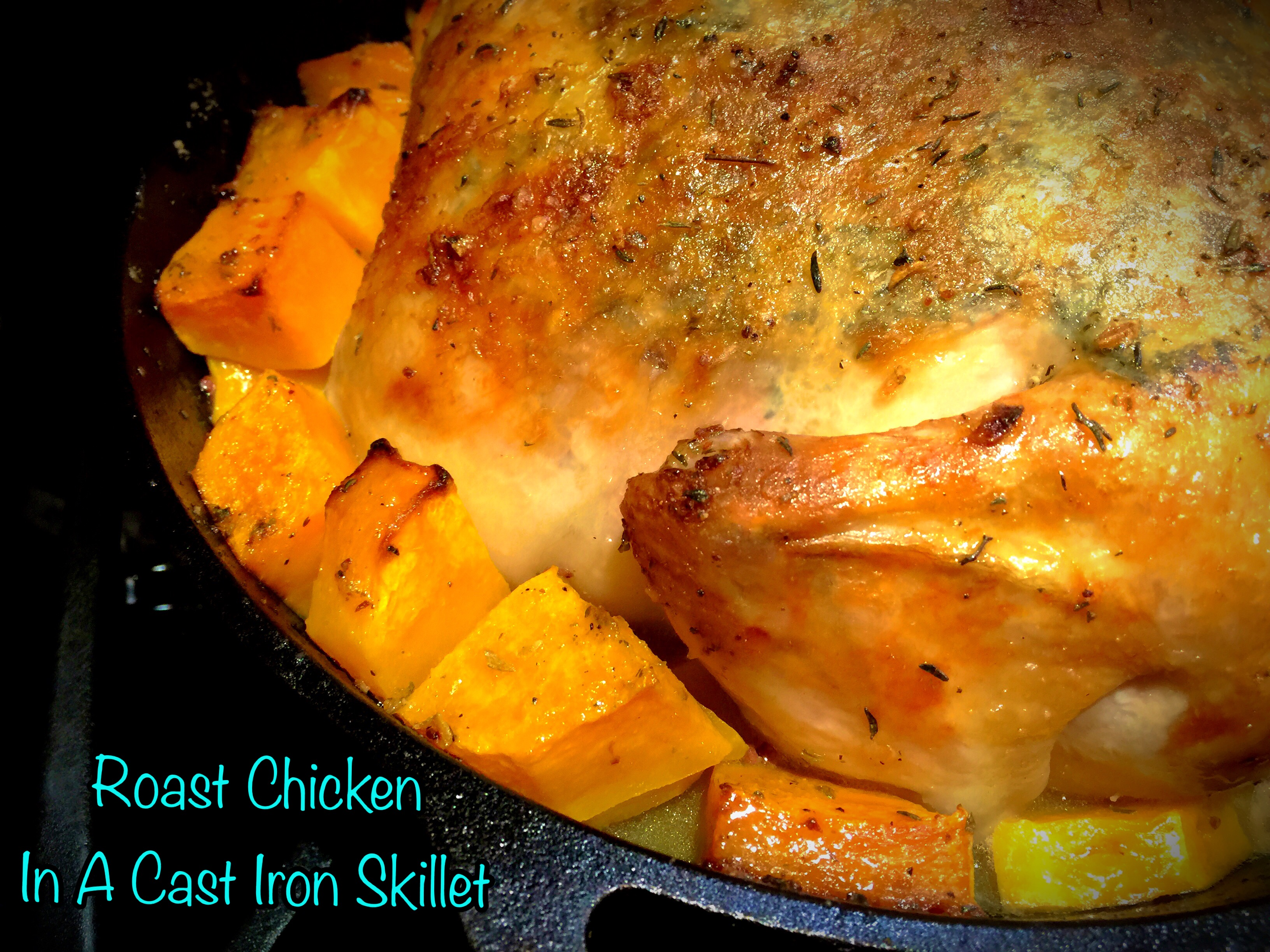 Roast Chicken In A Cast Iron Skillet… – You Betcha Can ...