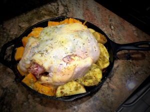 Roast Chicken In A Cast Iron Skillet