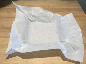 Parchment Paper Lined Pan