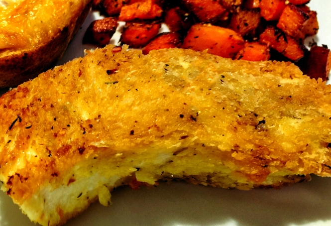 Parmesan Crusted Halibut
