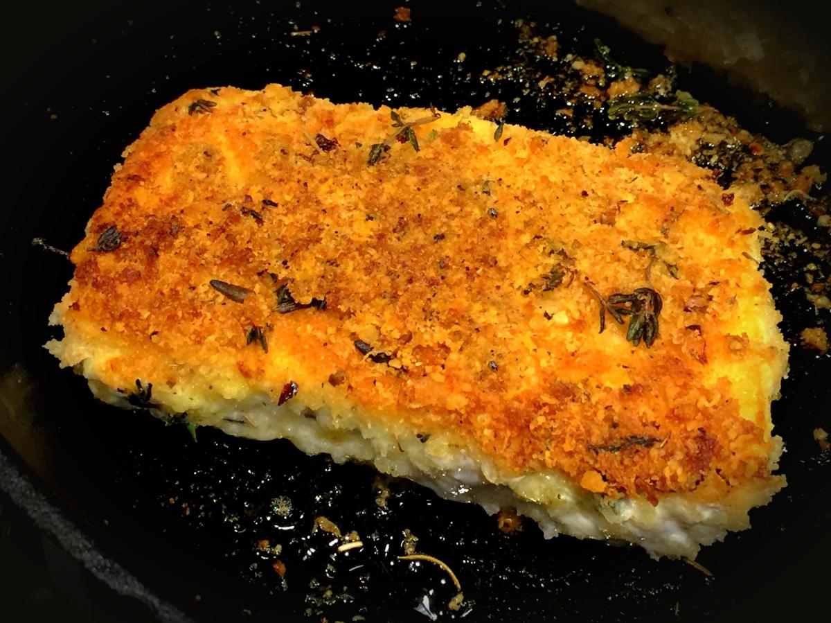 Parmesan Crusted Halibut You Betcha Can Make This