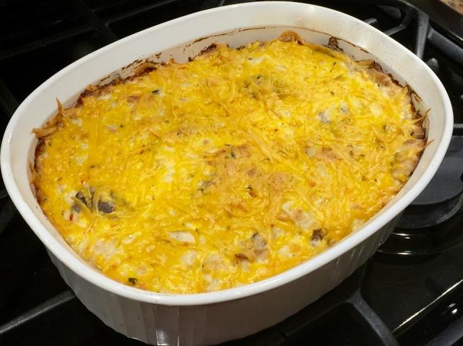 Chicken, cauliflower mushroom casserole
