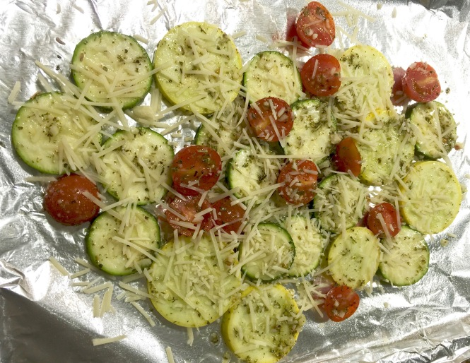 Garlic Roasted Summer Squash And Tomatoes