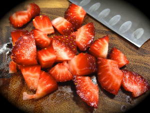 Cut The Strawberries Into Small Pieces