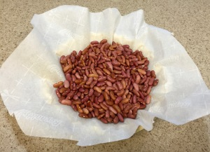 Beans used for blind baking a pie crust