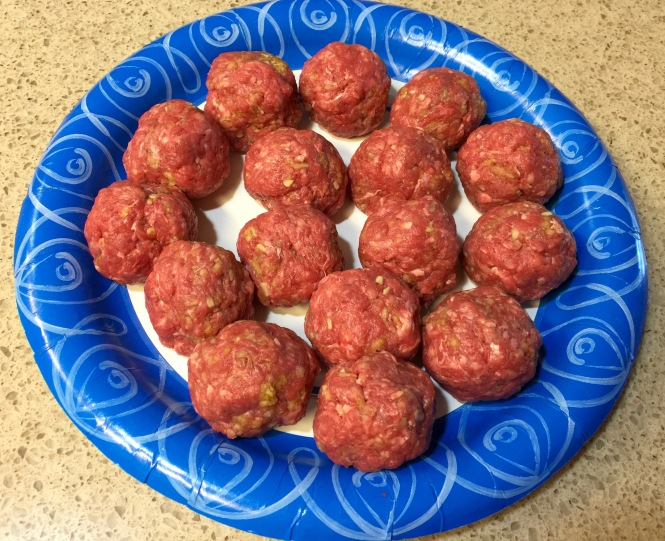 The amount of meatballs you get with a pound of ground beef.