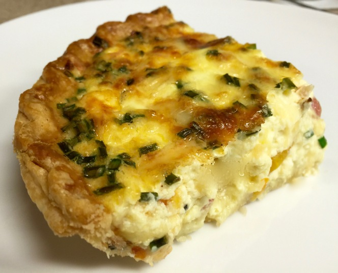 Bacon, Butternut Squash and Chive Quiche