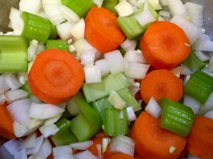 Veggies Cut Into Chunky Pieces
