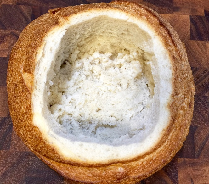Carved Out Bread Bowl